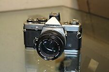 Olympus OM-2N SLR Film Camera Body Chrome OM2N + Zuiko Lens MC Auto-S50mm 1:1.4