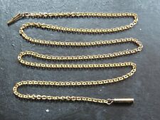 ANTIQUE VICTORIAN 9ct GOLD FLAT CABLE LINK NECKLACE C.1900 17 inch