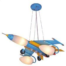 Lampadario AEREO bianco/azzurro, lampada per cameretta bimbo in alluminio