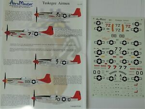 1/72 décals AeroMaster North American P-51 Mustang C/D Tuskegee Airmen 72-175