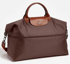 NIP $255 Longchamp Expandable Le Pliage Travel Bag Duffel Tote! Terra