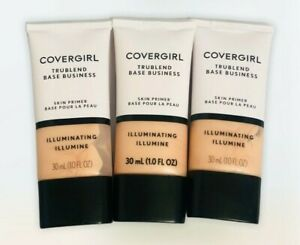 3X Covergirl TruBlend Base Business Skin Primer Illuminating 1 oz Each
