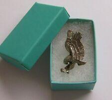 Eagle Lapel Pin~Landing Eagle, Silver Tone Lapel Pin, Hat Pin, New With Gift Box