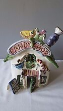Blue Sky Clayworks Heather Goldminc Candy Shop Candy Corner Tea Light House 2002