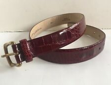 New Donna Karan Collection Genuine Alligator Contoured Belt S Made In Italy