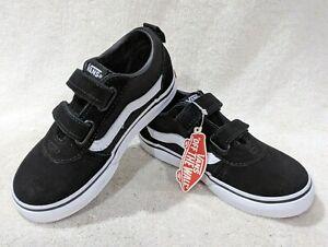 Vans Toddler Boy's Ward V Black/White Skate Shoes - Size 5/6/7/8/9/10 NWB