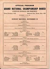 New listing San Francisco Livestock Pavilion Grand National Championship Rodeo Program 1941