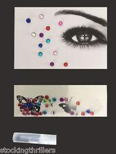 Eye Gems Carnival Clubwear Face & Body Art Jewellery Kit Acrylic Crystals + Glue