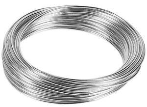 Basteldraht Aluminiumdraht Aludraht Biegedraht Schmuckdraht 10 Meter 1mm 2mm 3mm