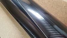 2.5M x 1.52M 5D Black Carbon Fiber Fibre Vinyl Wrap with Air Release Technology