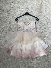 Ballkleid Abiballkleid Abendkleid kurz Prinzessin nude rosé Glitzer Lipsy
