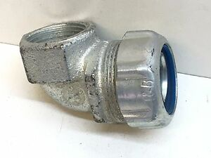 T&B Liquidtight 90-Degree Flexible Metal Conduit to Female RIGID Connector 3/4""