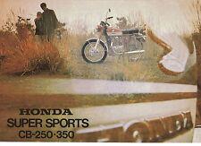 1970 HONDA CB250-350 TWIN SUPER SPORTS BIKE 4 Page Motorcycle Sales Brochure NCS