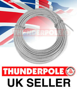 Thunderpole Antenna Wire - Ham Amateur Radio Poly-Weave Cable Aerial - 50m