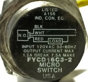 Micro Switch / Honeywell FYCD16C3-2 Proximity Sensor