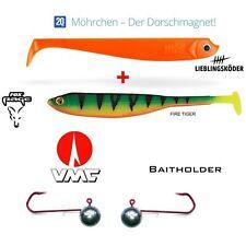 20 cm Mörchen + Rage Tiddler Fast FT + VMC BAITHOLDER 8/0 100g Dorschmagnet 2+2