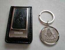 2, Freemason Masonic 1 Money Clip + 1 Key ring, in gift box