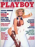 PLAYBOY FEBRUARY 1985 Cheri Witter Julie McCullough Sybil Danning Steve Jobs