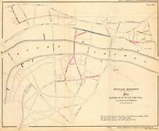 Proposed London road improvements, including ST PAUL'S BRIDGE. TITE 1855 map