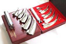 Laryngoscope Mac MACINTOSH Set of 5 Blades & 1 Handles EMT Anesthesia Intubation
