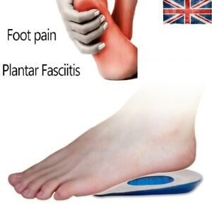 Fast Heel Pain Relief Heel Support Insoles Plantar FascIItis Cushion Gel Pad Cup