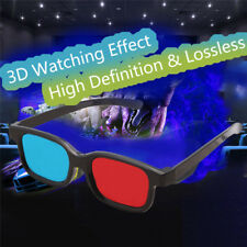 Red Blue 3D Glasses Black Frame New For Dimensional Anaglyph TV Movie DVD Game