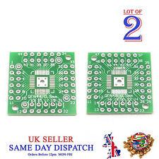 2x 2 côté PCB QFN48 à QFN44 5 mm pin côté Adaptateur Board IC Plaque