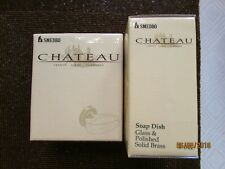 SMEDBO CHATEAU SOAP DISH GLASS & SOLID BRASS NEW IN BOX MADE IN SWEDEN