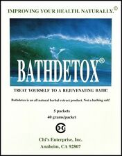 Chi Enterprise Bathdetox All Natural Herbal Supplement 5 bags 40 grams/packet