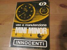 Libretto uso e manutenzione Innocenti Mini Minor 1968 PDF