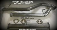 "TOYOTA HILUX 2005 TO 2015 D4D 3ltr  2 1/2"" MUFFLER ELIMINATOR EXHAUST PIPE"