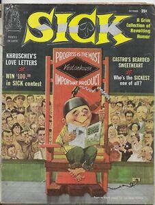 Sick Magazine #2 1960 Vintage Satire Humor Black and White Magazine G/VG