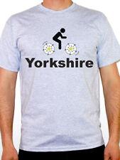 YORKSHIRE - Cycling / Rose / County / Biking / Tour / Fun Themed Mens T-Shirt