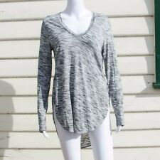Wilfred Long Sleeve Top in Black and White Size Small Rayon