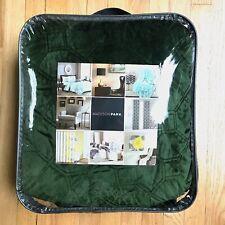 Madison Park Full Queen Faux Velvet Reversible 3 Piece Coverlet Set OLIVE Green