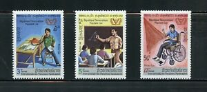 Z938  Laos  1981  Year of the Disabled   3v.    MNH
