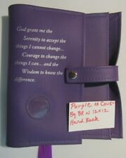Alcoholics Anonymous AA Big Book & 12 and 12 Double Serenity Purple Cover coin