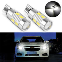 2X White T10 194 W5W 5630 LED 10 SMD CANBUS ERROR FREE Car Side Wedge Light Bulb