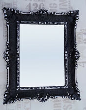 Wall Mirror Black Silver Baroque Repro Bathroom Vanity 56x46