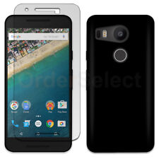 NEW Soft Slim Case+LCD HD Screen Protector for Android LG Google Nexus 5X Black