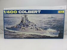 Heller COLBERT French Anti-Aircraft Cruiser 1/400 Scale Model Kit STARTED