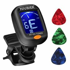 ❤ Niubier Guitar Tuner Digital Clip-On Tuner For Acoustic Electric Classical Cle