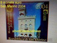 2004 BU SAINT MARIN 2004 9 pièces EURO san marino