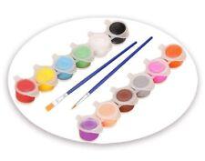 Acrylic Paint Set For Kids 12 Colors Plus 2 Brushes