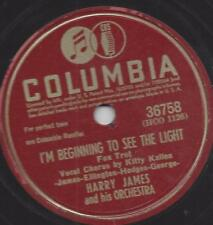 KITTY Kallen canta, con orchestra Harry James: i 'm Beginning To See the Light
