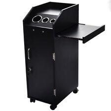 Black Hair Beauty Salon Spa Rolling Trolley Storage Cabinet Station Door Lock