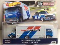 hot wheels team transport '71 datsun 510 fleet flyer car culture premium
