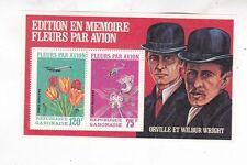 Gabon 1971 s/s flower,orville & wilbur wright  Sc C111c           d2201