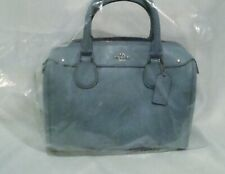New Coach mini Bennett Satchel Crossgrain Leather Pale Blue