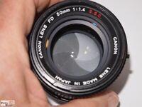 Canon SSC Objektiv 1,4/50 mm an Sony Alpha E-Bajonett (APS-C Sensor = 75mm 1,4)